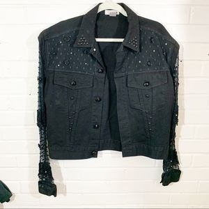 Vintage lew magram Jean Jacket with lace